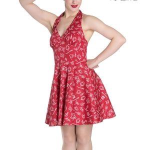 2x Hell Bunny Red Marine mini dress